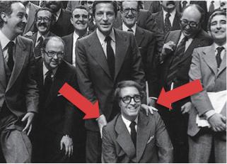 El expresidente con diputados del congreso
