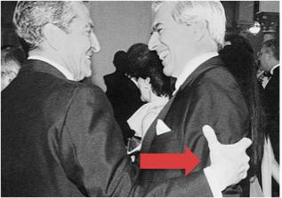 El expresidente con el Mario Vargas Llosa