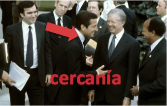 Suárez con el presidente Carter
