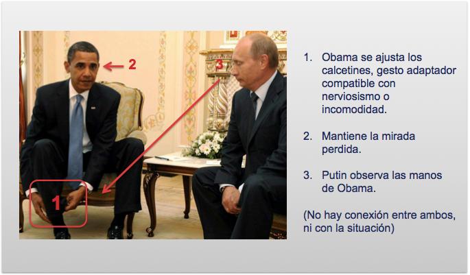 Obama se ajusta los calcetines ante la mirada de Putin