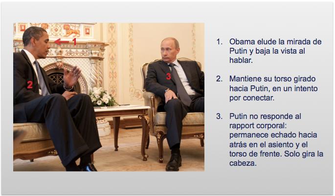 Falta de rapport entre Putin y Obama