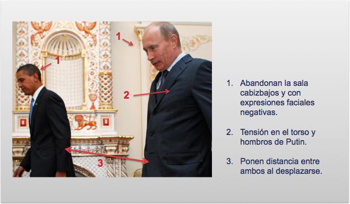 Obama y Putin abandonan la sala