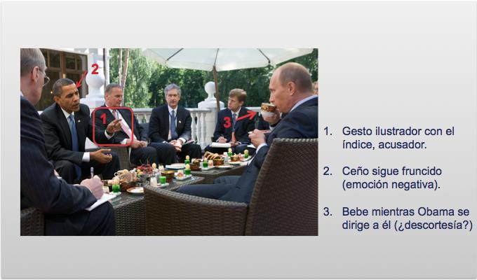 Desarrollo del desayuno del primer encuentro de Obama y Putin