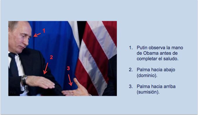 Saludo en el segundo encuentro de Obama y Putin