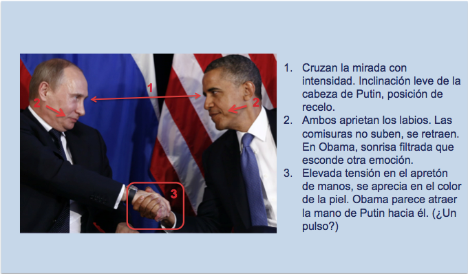 Apretón de manos en el segundo encuentro de Obama y Putin