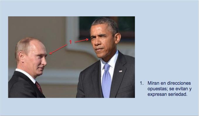 Seriedad en los rostro de Obama y Putin