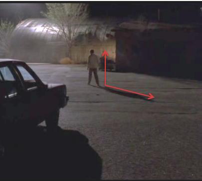 Posición erguida al caminar en el final de Breaking Bad