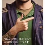 Típico gesto de un arma, utilizado en el anuncio de la Federación Portuguesa de Asociaciones de Sordos