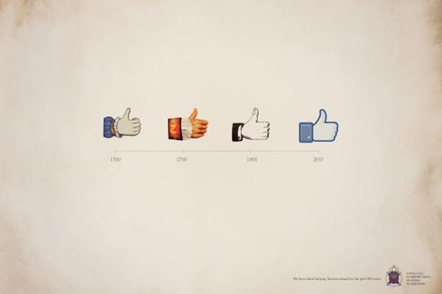 """Campaña de Santa Casa basada en el icono de """"me gusta"""" de Facebook"""