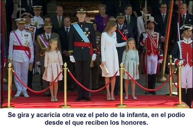 Gesto adaptador de la reina Letizia