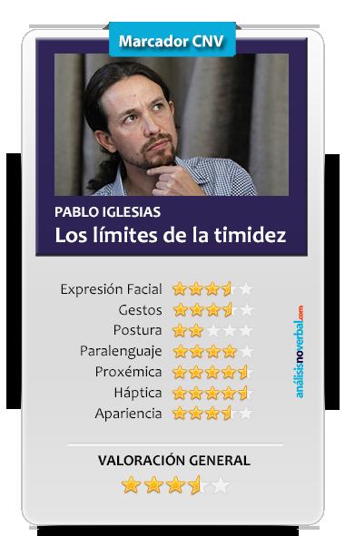 Valoración de la comunicación no verbal de Pablo Iglesias