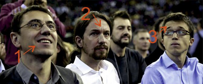 Control de las emociones de los líderes de Podemos