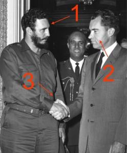 Fidel Castro y Nixon. Un saludo tenso