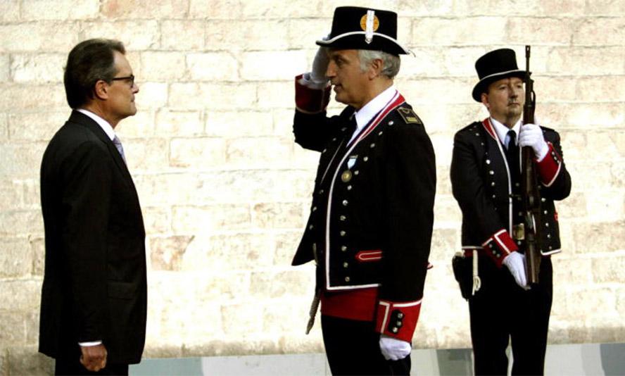 Artur Mas en la celebración de la última Diada