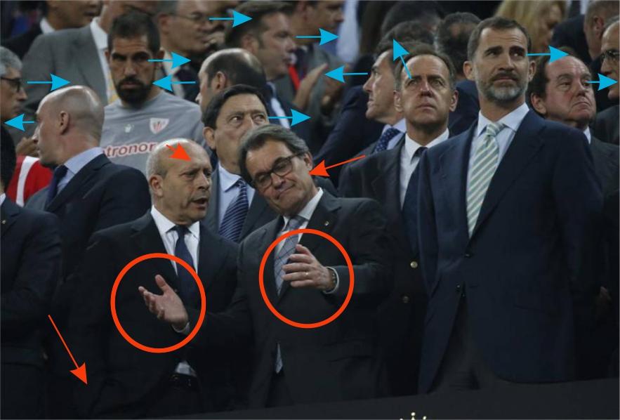 Artur Mas es recriminado al término del encuentro,  con agresiva actitud, por el ministro de Educación, Cultura y Deportes, José Ignacio Wert