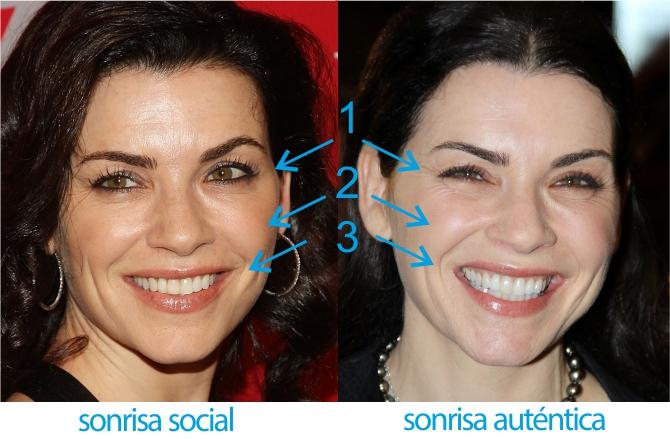 Codificación sonrisa auténtica vs social