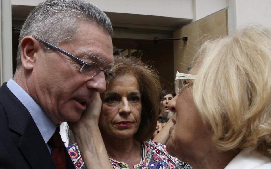 Manuela Carmena con Alberto Ruiz Gallardón