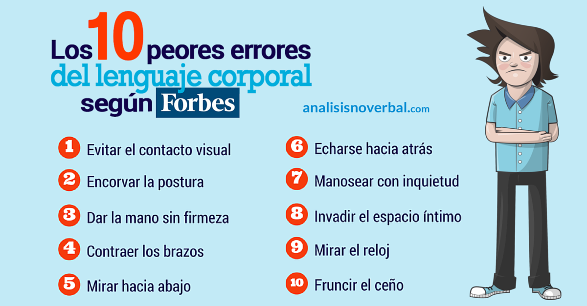 Los 10 errores del lenguaje no verbal