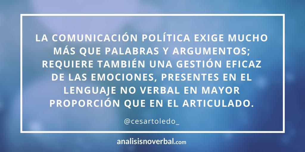 Comunicación no verbal en la política
