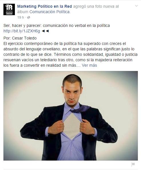 Facebook de Marketing Político en la Red