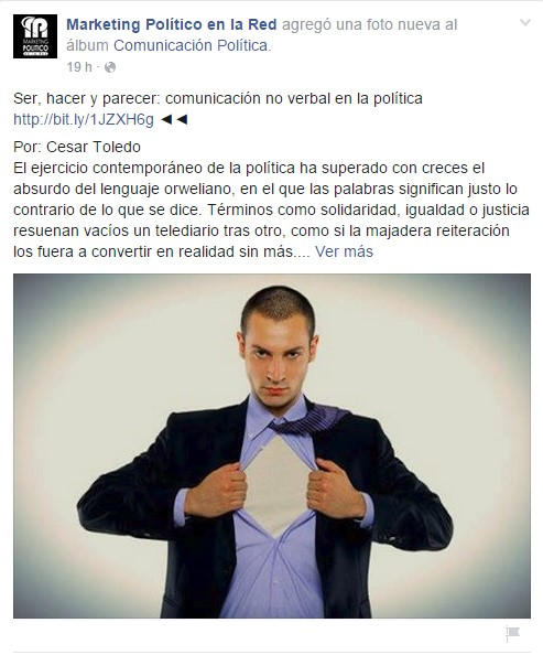 Facebook de Marketing Político en la Red