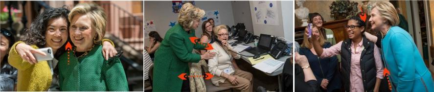 Comportamiento no verbal de Hillary Clinton