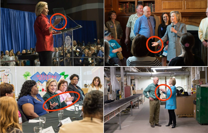 Los gestos ilustradores de Hillary Clinton