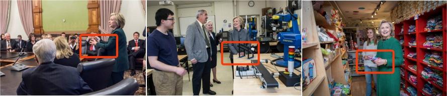 Análisis de la háptica de Hillary Clinton