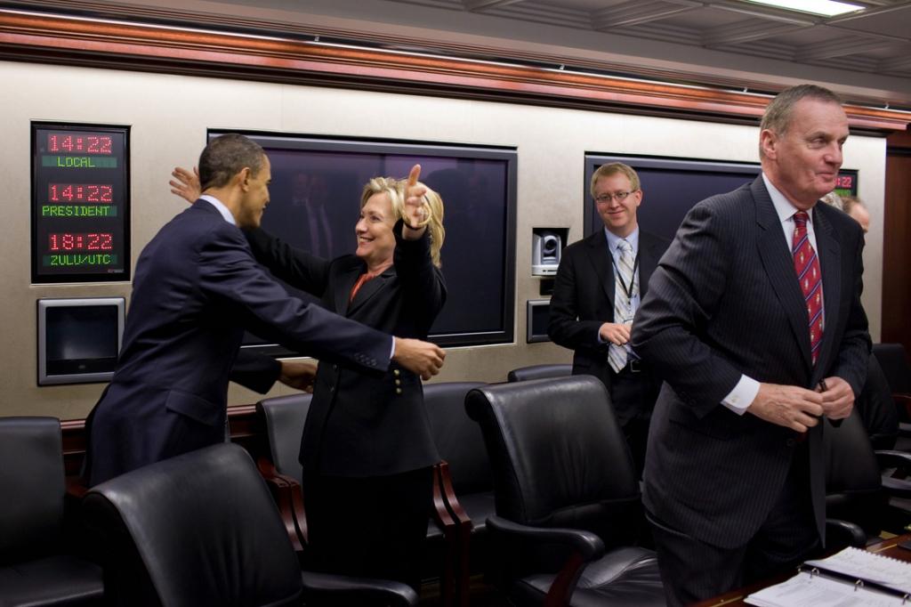 Hillary Clinton con Barak Obama