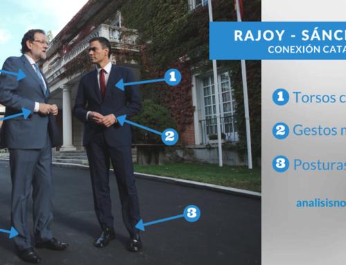 El lenguaje no verbal de Rajoy y Pedro Sánchez expresa conexión y confianza mutua
