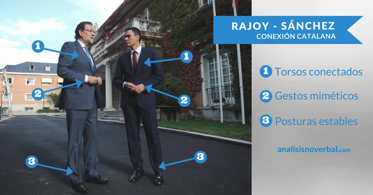 Lenguaje no verbal de Rajoy y Pedro Sánchez