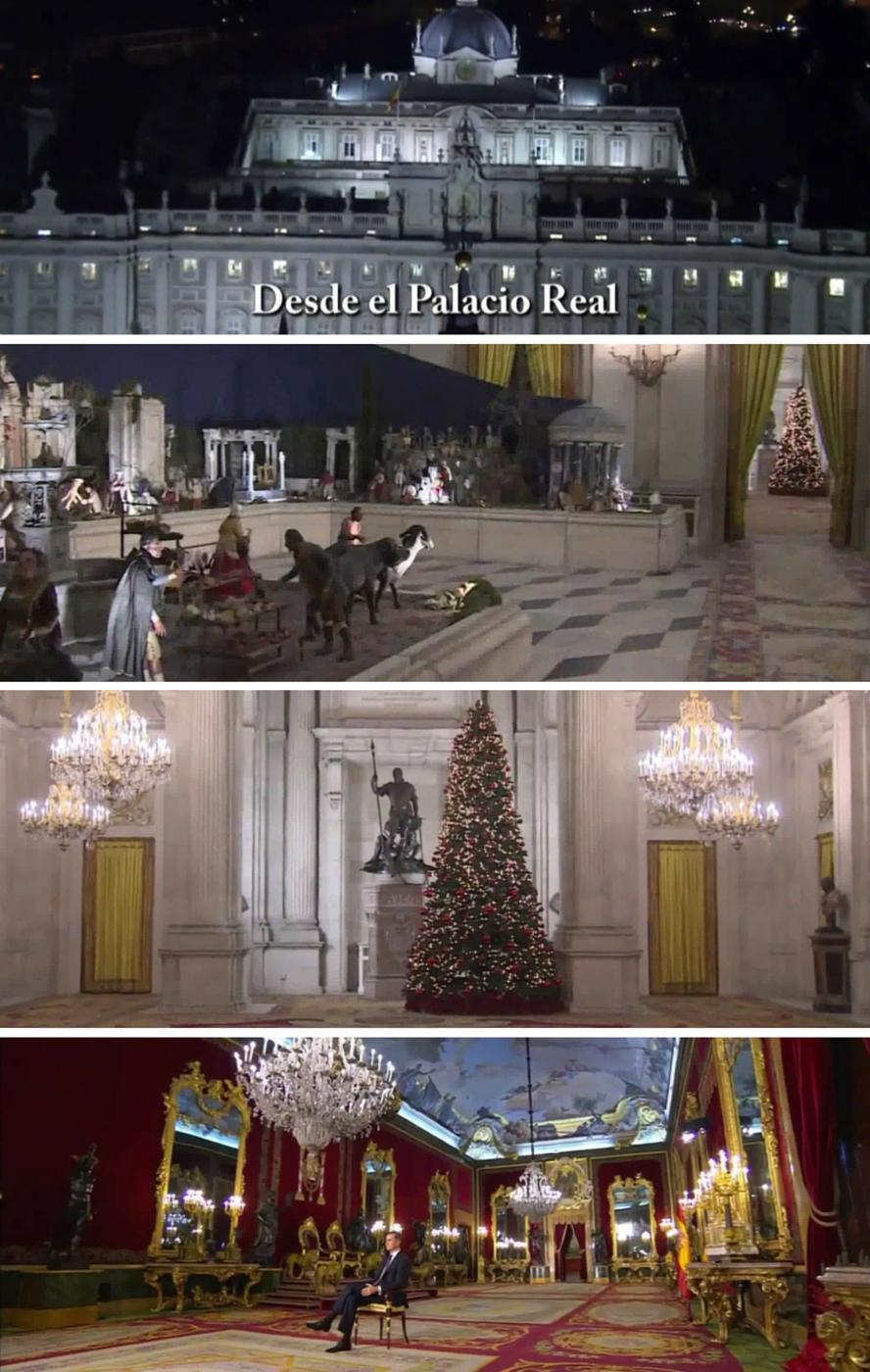 Planos iniciales del discurso de Navidad de Felipe VI