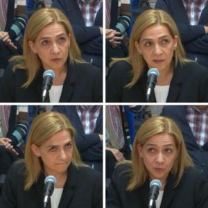 Movimientos oculares de la infanta Cristina durante su declaración
