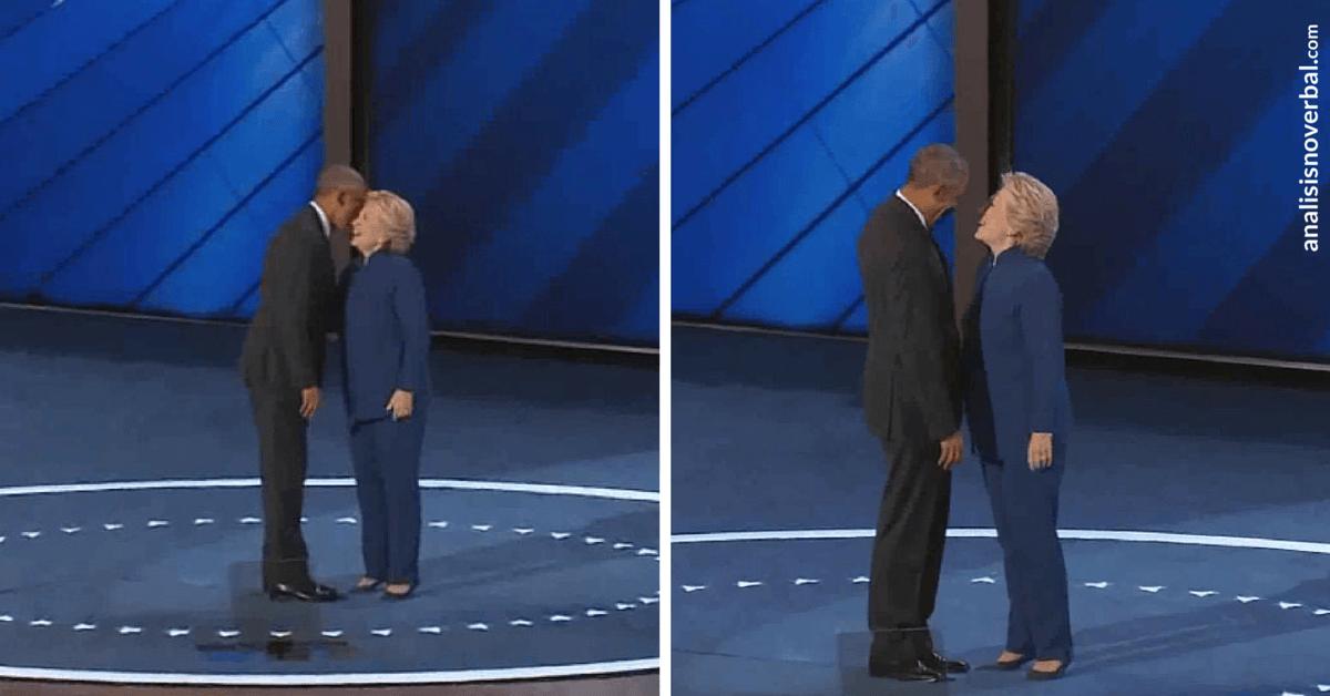 Imitación en el comportamiento postural de Hillary Clinton y Obama