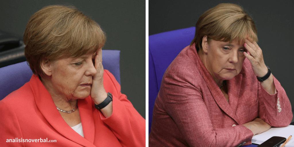 Gestos adaptadores de Angela Merkel
