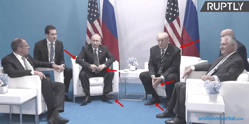 El lenguaje corporal de Putin y Trump durante el G20