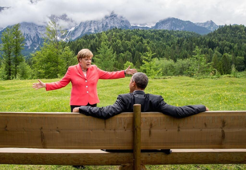Rapport entre Angela Merkel y Barak Obama