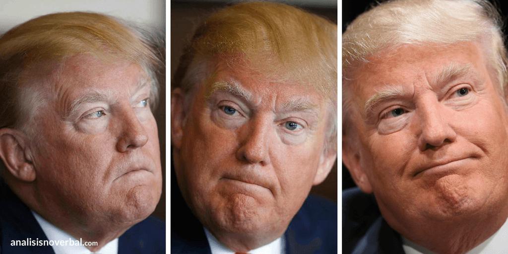 Donald Trump: gestos adaptadores con los labios