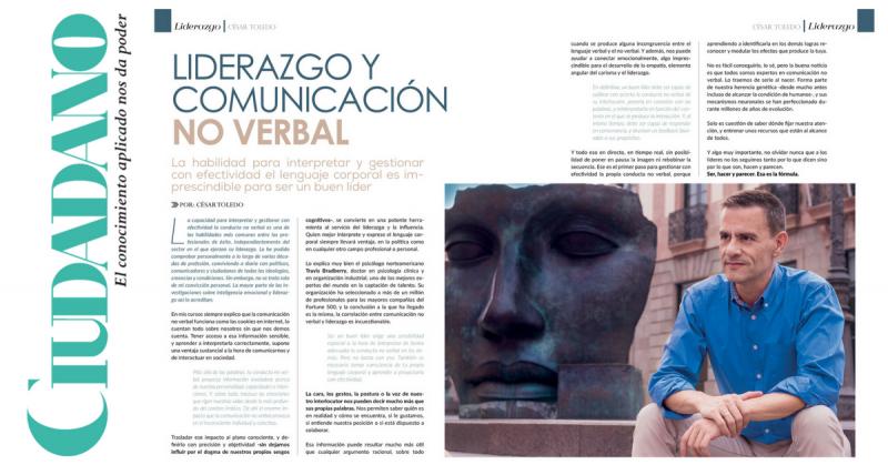 Artículo sobre liderazgo y comonicación no verbal publicado en la revista Ciudadano