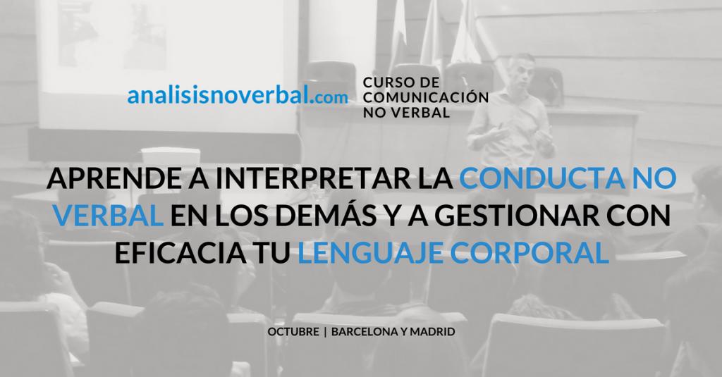 Curso de comunicación no verbal - convocatorias octubre 2016